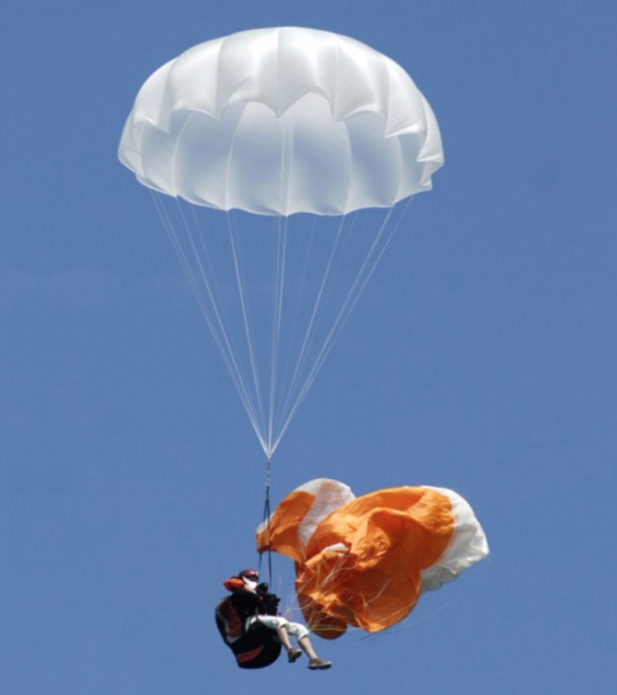 The lightest reserve chute fabric for drone and paragliding rescue
