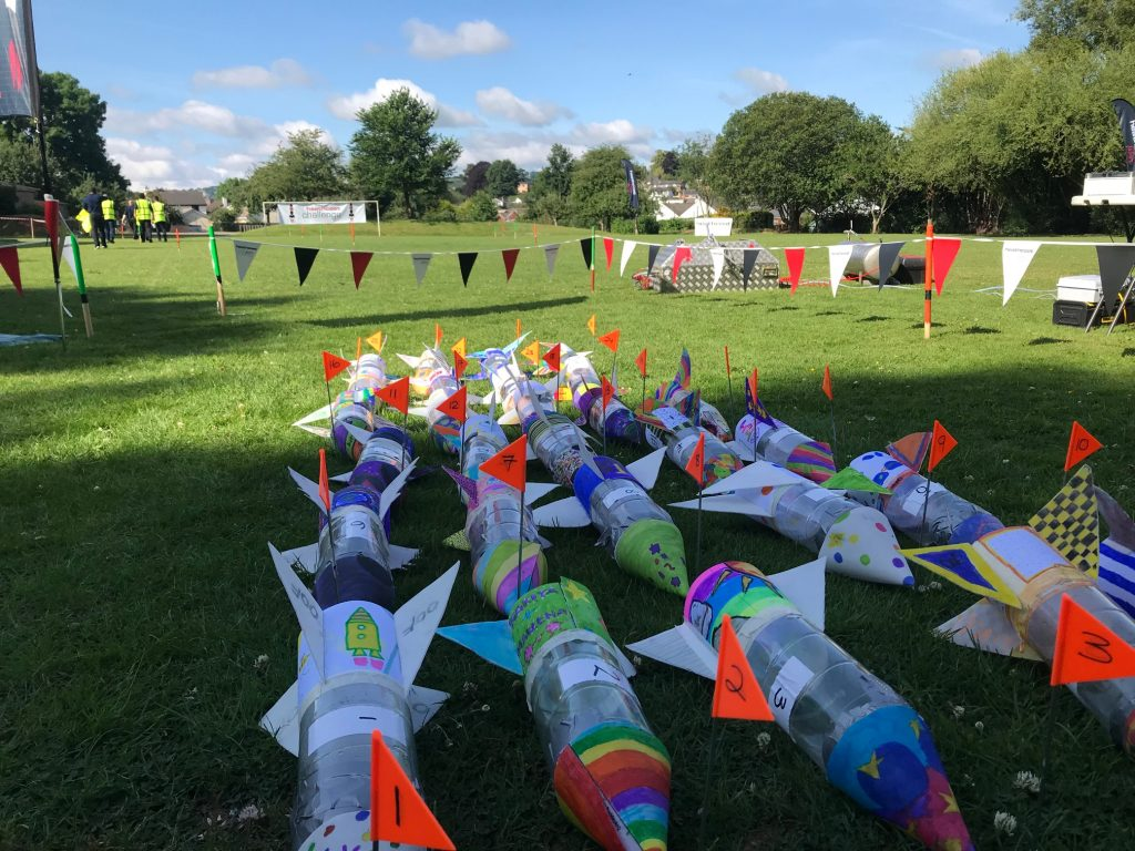 Rockets designed by Two Moors Primary School