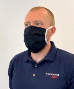 Nomex face mask from Heathcoat Fabrics