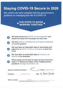 Covid-19 Secure Five Steps To Safer Working