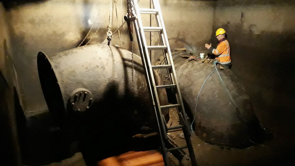 refurbishing our 1950s Gilkes Hydro Turbine